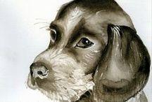 ~I love Watercolor Animals~ / Watercolor animals. Animal lovers.
