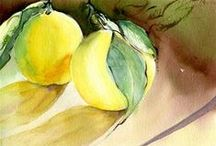 ~I Love Watercolor fruits, vegetables and food~ / Watercolor fruits, vegetables and food. Food lovers