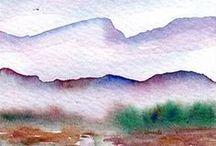~I Love Watercolor landscapes~ / Watercolor landscape