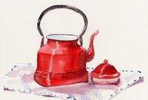 ~I Love Watercolor glass, pottery~ / Watercolor glass, pottery
