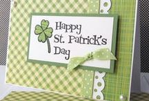 St Patrick's Day / Other celebrations / Handmade original cards with holiday celebration themes / by Marg Mortimer