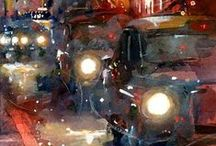 ~I love watercolor vehicles, bicycles...~ / watercolor