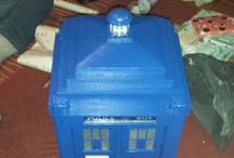 Police Box / A small 1/4 size scale Mackenzie Trench Police box a follow up from the half sized box I made for the front room.  This one made for a friend's daughter as she's a big Dr Who fan.