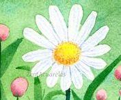 ~I love miniature, small watercolors~ / acuarelas pequeñas, miniature watercolors, small watercolors