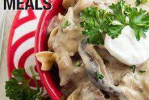Crockpot Recipes/Freezer Meals / Slow cooker meals, crockpot meals, meal plans, meals on a budget, crockpot meals, freezer meals, dump dinners