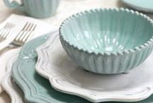 Tablescapes / Ideas for decorating a tea table / by Marcia Fisher