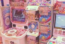 Japanse Arcades / Vrijwel nergens ter wereld vind je zoveel Arcades als in Japan, en dat levert mooie plaatjes op die wij weer gebruiken om dit leuke board mee te vullen!