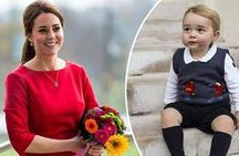 Christmas at Kensington Palace / Prince George wearing our Griotte bloomers and navy socks this Christmas!