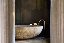 """Bathrooms / I am about to renovate my bathroom, this is my style & inspiration, i hope I get to achieve something along these lines . . . . . at last i did, thank you """"surface"""" I love my polished plaster bathroom www.surface.gg / by Nikki Robilliard"""