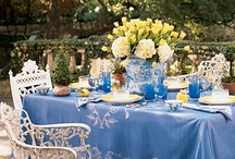 TABLE SETTINGS / Table Settings, or Tablescapes....from elegant to picnics. Dishes, centerpieces, etc. to make the table beautiful.  / by Kathy Coley