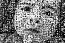 PhotoMosaic / Forex FotoMosaico Bianco&Nero Misure: 50x70 cm Spessore: 3 mm n° Foto: 29x52