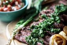 Grilling Recipes / From juicy burgers, to saucy barbecued chicken, to perfectly dry-rubbed ribs, this board rounds-up the best grilled meat recipes for your next BBQ. Carnivores, unite!