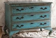 Painted Vintage / Painted vintage furniture #shabbychic French!