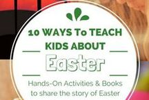 The True Meaning of Easter - Teach Kids About Faith & Jesus / Resources to teach kids the real meaning of Easter - Jesus' life, death, burial, and resurrection. Activities and books to read. Great for at home, homeschool, Sunday School or for children's ministry.