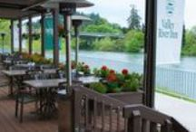 Sweetwaters on the River / For those looking for a unique dining experience, Valley River Inn offers unrivaled location combined with expertly crafted Northwest fare. From a leisurely romantic dinner to a quick bite on the go, you can find the perfect environment for what you desire. 