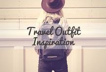 Travel Outfit Inspiration / Be chic, be stylish, be comfortable. Then be on your way. Find travel outfit ideas and inspiration here.