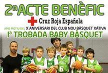 I Trobada Baby (24-5-2014) / A l'Albereda de Xàtiva, el Club Nou Bàsquet Xàtiva va organitzar una trobada solidària en la qual el xiquets i les xiquetes participants sols havien d'aportar dos o tres aliments no peribles i moltes ganes de passar-ho bé. Els nostres, com la resta de babies, s'ho van passar d'allò més bé. Les mares i els pares ens van anar assortint de fotos, ja que la major part de l'escola es trobava a Tavernes, a la Festa Final de Temporada.