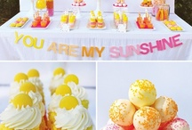 """You Are my Sunshine Party / Decorate with happy shades of yellow, sky blue, and gold for the perfect gift or event. This board is dedicated to the concept and song """"You Are my Sunshine"""". Use origami stars to enhance your tables or spruce up a centerpiece! Get creative and even use them as party pick or as pebbles in a vase."""