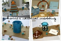 Nautical Wedding / A wedding of navy blues, stripes, anchors, the ocean, and burlap! Find simple but beautiful ways to spruce up tables and decorate for the perfect nautical wedding!