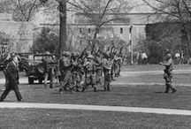May 4 Ohio National Guard and Military Vehicles / Images of military and the Ohio National Guard May 3 and May 4, 1970 http://www.library.kent.edu/may4digital  / by Special Collections and Archives