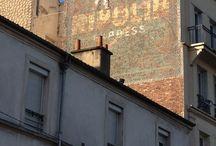 Anciennes publicités peintes sur mur, Paris et région parisienne. / Murs peints