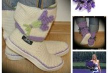 Summer flowers crochet Uki-boots / http://en.dawanda.com/search?q=uki-crafts