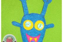 Quiet book Monster * Spielbuch * Aktivbuch Monster / Quiet book Spielbuch Aktivbuch