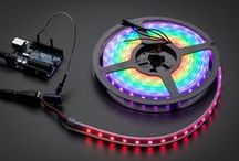 Neopixels / What's better for your project than rings, strips, boards and sticks of pulsing, colorful miniature LEDs? We can't think of much else - and that's why we carry a complete line of the Adafruit original NeoPixels. https://www.adafruit.com/category/168