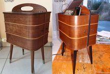 before and after -- vorher und nachher -- makeover.   Bestimmung von Möbeln verändern. / Makeover  -- Möbel neu gestalten DIY Vorher - nachher polstern -- upholstery