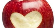 An Apple a Day.. / Eat less sugar... You're sweet enough already.