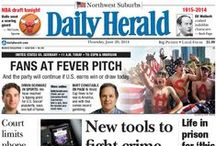 Front Pages / Front pages from the Daily Herald with top news from suburban Chicago