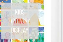 Kids Art Display / Inspired wall art from kids artwork display in kids room or around the house to see and be proud