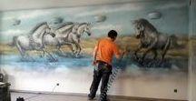 Artystyczne malowanie ścian / Artystyczne malowanie ścian 3D, malowanie obrazów na ścianach, malowidła ścienne, murale 3D, artystyczne graffiti ścienne, malujemy obrazy na ścianach.
