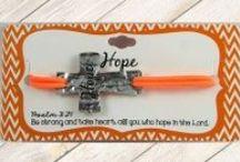 Stamped Cross Bracelets / www.heartonyoursleevedesign.com