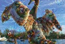 """DeepDream Pictures ... / """"DeepDream Pictures"""" created with Googles artificial intelligence neural network software DeepDream."""