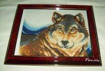 Wolf... / xszemes himzés, fázis fotókkal