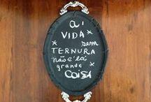 Chalkboard everything! ♥ / Tudo pode virar uma lousa!