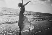 """Be...by the Sea / """"Because there's nothing more beautiful than the way the ocean refuses to stop kissing the shoreline, no matter how many times it's sent away.""""  — Sarah Kay, Writer / by Cat Cov"""