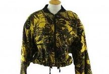 """Womens Bomber jackets / 80's & 90's Womens Vintage Bomber jackets. <a data-pin-do=""""buttonFollow"""" href=""""https://www.pinterest.co.uk/blue17vintage"""">Blue17vintage</a>"""