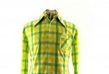 Original 70s shirts / vintage Mens 1970s shirts