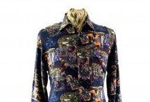 Wild 80s shirts / Vintage Mens 1980s shirts