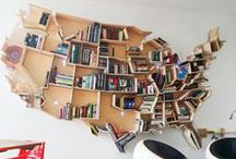 DIY Book Displays / There is nothing better than owning a lot of books, except maybe having an awesome way to display or showcase them.