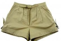 Womens leather & suede shorts /  Vintage Womens retro leather & suede shorts