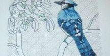 Bird & Berris collection./az én kék madaraim/ / ahogy az én madaraim készülnek, fázis fotókkal.