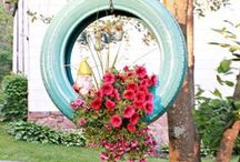 Clever Yards / A calming outdoor sanctuary is a must for any home. Create the perfect outdoor getaway in your own backyard with these clever D.I.Y and trendy design ideas.  Cool, Easy, Family, Friendly, Garden, Fountains, Swings, Porch, Walkway, Pets, Fun, Organize
