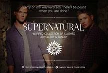 """Supernatural / """"Carry on my wayward son, there'll be peace when you are done."""" A Supernatural inspired collection of clothes, jewellery & sundry."""