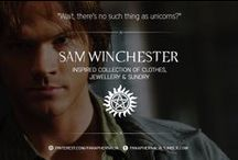 """Sam Winchester / """"Wait, there's no such thing as unicorns?"""" A Sam Winchester inspired collection of clothes, jewellery & sundry."""