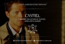 """Castiel / """"I don't understand that reference."""" A Castiel inspired collection of clothes, jewellery & sundry."""