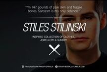 """Stiles Stilinski / """"I'm 147 pounds of pale skin and fragile bones. Sarcasm is my only defence."""" A Stiles Stilinski inspired collection of clothes, jewellery & sundry."""