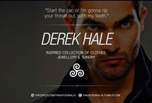 """Derek Hale / """"Start the car, or I'm gonna rip your throat out, with my teeth."""" A Derek Hale inspired collection of clothes, jewellery & sundry."""